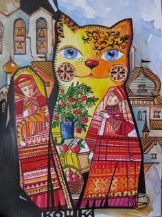Chat Folk Russe by Oxana Zaika