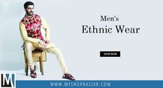 Go for a Classic Collection of Men Ethnic Wear at Myshopbazzar and Get Exquisite Ethnic Wear to Make Yourself Rooted with Indian Culture & Tradition.