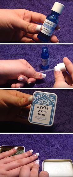 Top Coat and Cuticle Balm|DIY Acrylic Nails