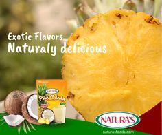 Exotic Flavors. Piña Colada. Aguas Frescas
