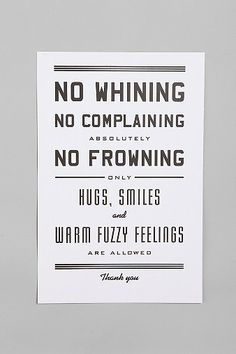 Urban Outfitters  Hammerpress No Whining Print