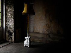 Mahogany floor lamp SKYSCRAPER - Boca do lobo