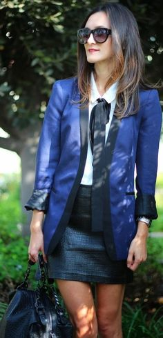 #jacket #Black + #Blue by Frankie Hearts Fashion