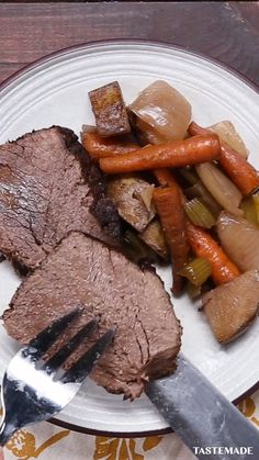 Pot Roast Recipes, Meat Recipes, Slow Cooker Recipes, Mexican Food Recipes, Cooking Recipes, Slow Cooker Recipe Videos, Healthy Slow Cooker, Easy Pot Roast, Healthy Pot Roast