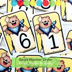 The Cutest Bear FREE Printable Numbers Cards and Games - Sea of Knowledge Number Games Kindergarten, Learning Numbers Preschool, Teaching Numbers, Free Preschool, Free Math, In Kindergarten, Preschool Ideas, Preschool Crafts, Number Flashcards