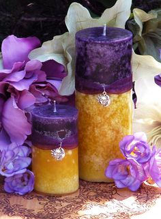 Purple Sun Candles by White Magick Alchemy