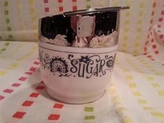 Vintage GEMCO MILK GLASS RETRO SUGAR BOWL USA in Pottery & Glass | eBay