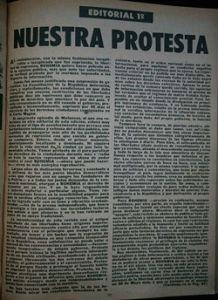 Facsímil del editorial publicado el 10 de junio de 1956, edición 24.