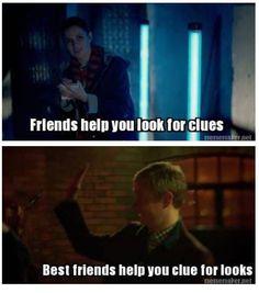 A best friend helps you clue for looks Sherlock & John drunk