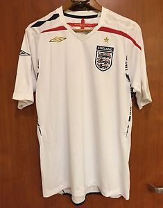 ☀UMBRO ENGLAND OFFICIAL TEAM☀ PRODUCT 2007 - 2009 JERSEY FOOTBALL SOCCER SHIRT L