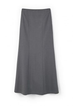 Юбка Mango, цвет: серый. Артикул: MA002EWLKE41. Женская одежда / Юбки / Юбки-макси