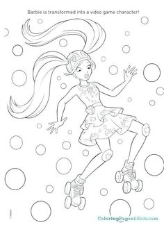20 Best Beautiful Barbie Coloring Games Images In 2019