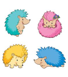 Happy Hedgehogs Cut-Outs