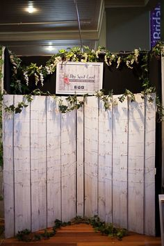 Rustic white backdrop/seating display/photo and memory backdrop available for hire at my sweetevent Melbourne