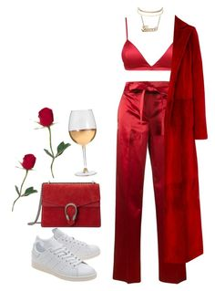 A fashion look from April 2017 featuring Oscar de la Renta coats, Helmut Lang pants and adidas Originals sneakers. Browse and shop related looks. Boujee Outfits, Kpop Fashion Outfits, Stage Outfits, Cute Casual Outfits, Stylish Outfits, Polyvore Outfits, Mode Kpop, Looks Chic, Look Fashion