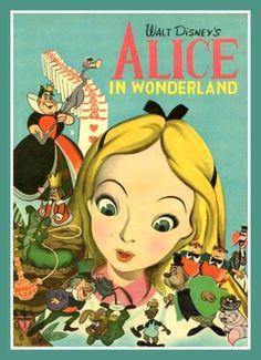 Fridge Magnet vintage image Alice in Wonderland Walt Disney illustration on Etsy, $3.50