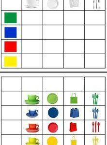 More grid work ideas Preschool Learning Activities, Color Activities, Infant Activities, Kids Learning, Kids Education, Special Education, Printable Preschool Worksheets, Montessori Materials, Math For Kids