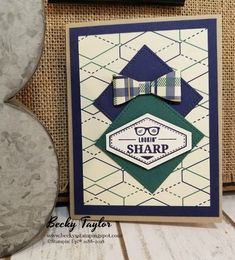 Creating with Becky's Stamping Spot | blog Truly Tailored, Tailored Tag Punch, True Gentleman, Stampin' Up!, Masculine, Occasions catalog