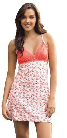 Laura Sleepwear Orange Sexy Chemise Pajama  SL501039 Medium at Amazon  Women s Clothing store  925e170fb