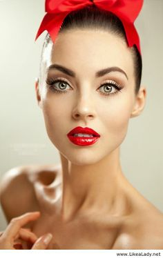Makeup with red