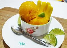 Mango Sorbet is the best way to cool down yourself on a hot summer day. It's creamy & refreshing; plus in a blender you can make mango sorbet in 5 min using 3 simple ingredients. Read more: Mango Sorbet, Summer Treats, Canning, Simple, Hot, Desserts, Tailgate Desserts, Deserts, Postres