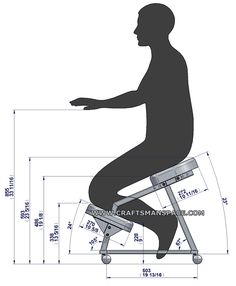 Metal kneeling chair - Ergonomy