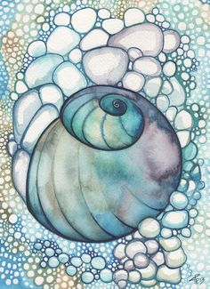 Tamara Phillips | WATERCOLOR | Bubble Snail