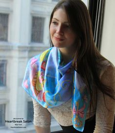 Cashmere Silk Scarf - Houghton Bay - Night by VIDA VIDA mBUqKKV5Sl