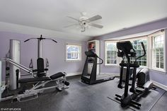 Workout room off the Master Bedroom - convenient.