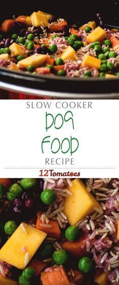 Easy Slow Cooker Dog Food | Weve found the balance of ingredients that works  - Dog Food - Ideas of Dog Food #DogFood -  Easy Slow Cooker Dog Food | Weve found the balance of ingredients that works well for our fur babies and with a little tweaking youll strike the perfect balance too!