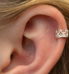 Crown -  Gold Vermeil - High Cartilage Ear Cuff  -  SINGLE