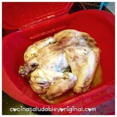 Pollo asado al microondas en 30 min | Cocina Chicken, Food, Microwaves, Healthy Food, Baked Chicken, Recipes, Eten, Meals, Cubs