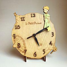 The Little Prince Desk / Wall Clock / Wood clock by gartsdesign on Etsy https://www.etsy.com/listing/287170617/the-little-prince-desk-wall-clock-wood