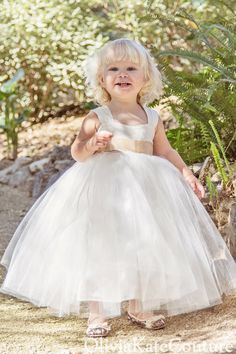 Flower Girl Dress Toddler Baby by OliviaKateCouture on Etsy, $99.95