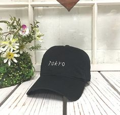f349093a549 TOKYO Baseball Hat Low Profile Embroidered by PrfctoLifestyle