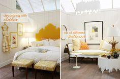 Making it nicer with Sarah Richardson yellow bedroom, niceandnicer.com