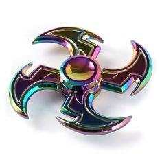 RARE amazing Fidget Spinner rainbow Metal Hand Spinner Finger Toy adult or kids