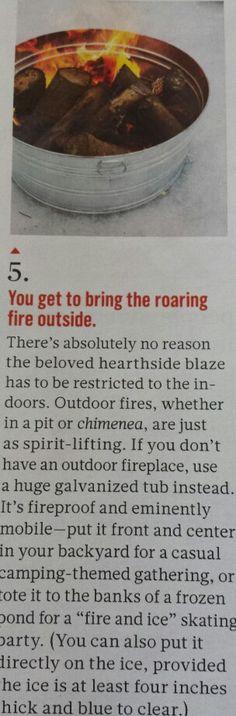 Portable Fire Pit- Martha Stewart
