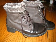 SPORTO Brown Lace Up Insulated Winter Snow Boots Womens Size 7 1/2 Med~