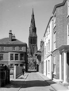 Leicester Cathedral from New Street, Leicester Photo taken 1957
