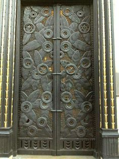 Ornate Wrought Iron Door at 181 Madison Ave NYC by Edgar Brandt