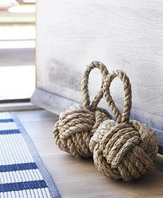 Superieur I Have Always Loved These Nautical Rope Knot Doorstops. Simple. Functional.