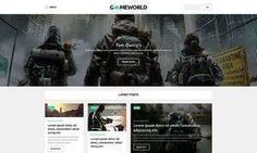 Video Games & Gaming Blog WordPress Themes - Gameworld