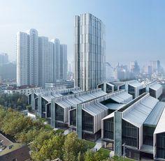 gmp Architekten, complejo Soho Fuxing Lu en Shanghái