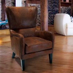 Lorenzo Fabric Studded Club Chair by Christopher Knight Home - 14106461 - Overstock - Great Deals on Christopher Knight Home Living Room Chairs - Mobile