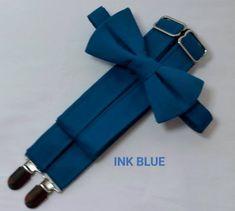 Ink Blue Suspenders and Ink Blue Bow Tie. Ink Blue Groomsmen Suspenders and Bow Tie Set. Blue Groomsmen, Groomsmen Suspenders, Bowtie And Suspenders, Popular Wedding Colors, Spring Wedding Colors, Autumn Wedding, Elegant Wedding, Dream Wedding, Teal Blue Color