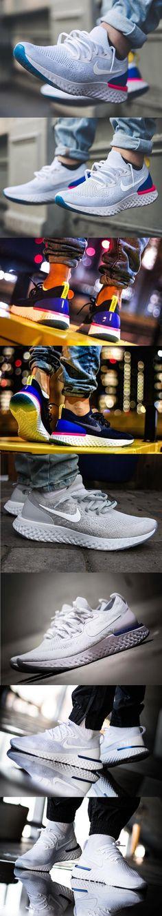 La #Epic #React de #Nike Nike Epic React #Flyknit #White/#Racer #Blue/#Pink #Blast