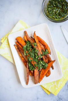 Sweet Potatoes with Chimichurri / blog.jchongstudio.com