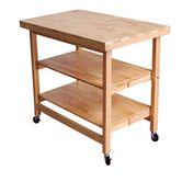 Found it at Wayfair - Folding Kitchen Island with Wood Top