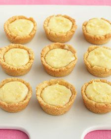 "Easy to make and charming in appearance, lemon tassies are an ideal dinner-party dessert. The name of these tart treats is derived from the Scottish word for a ""small cup."" - I made this for our anniversary - they were the perfect bite!"